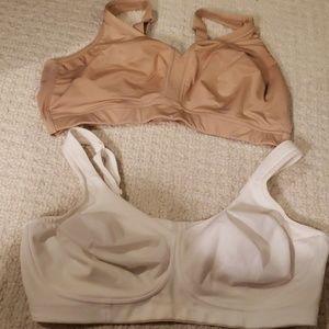 Set of 2 44 DDD Cacique no wire bras